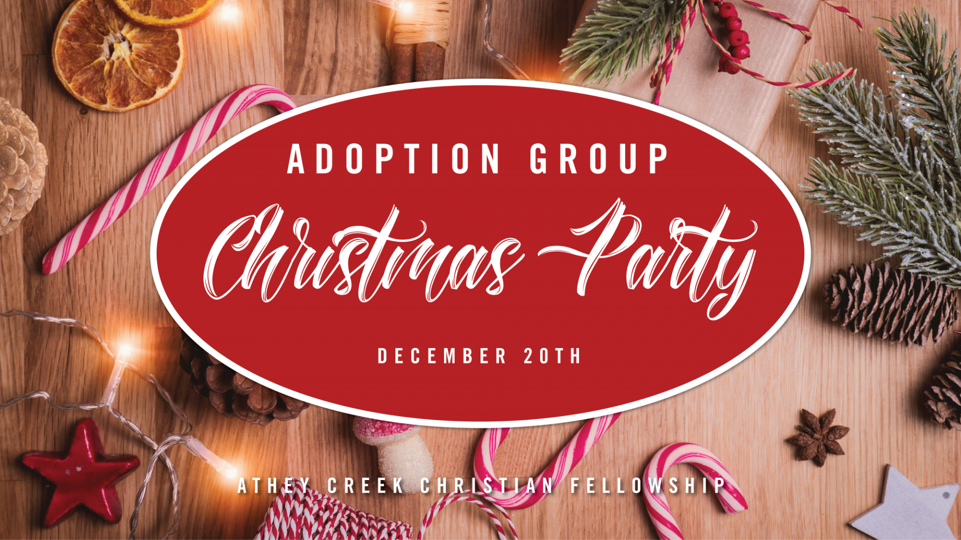 Poster for Adoption Group Christmas Party
