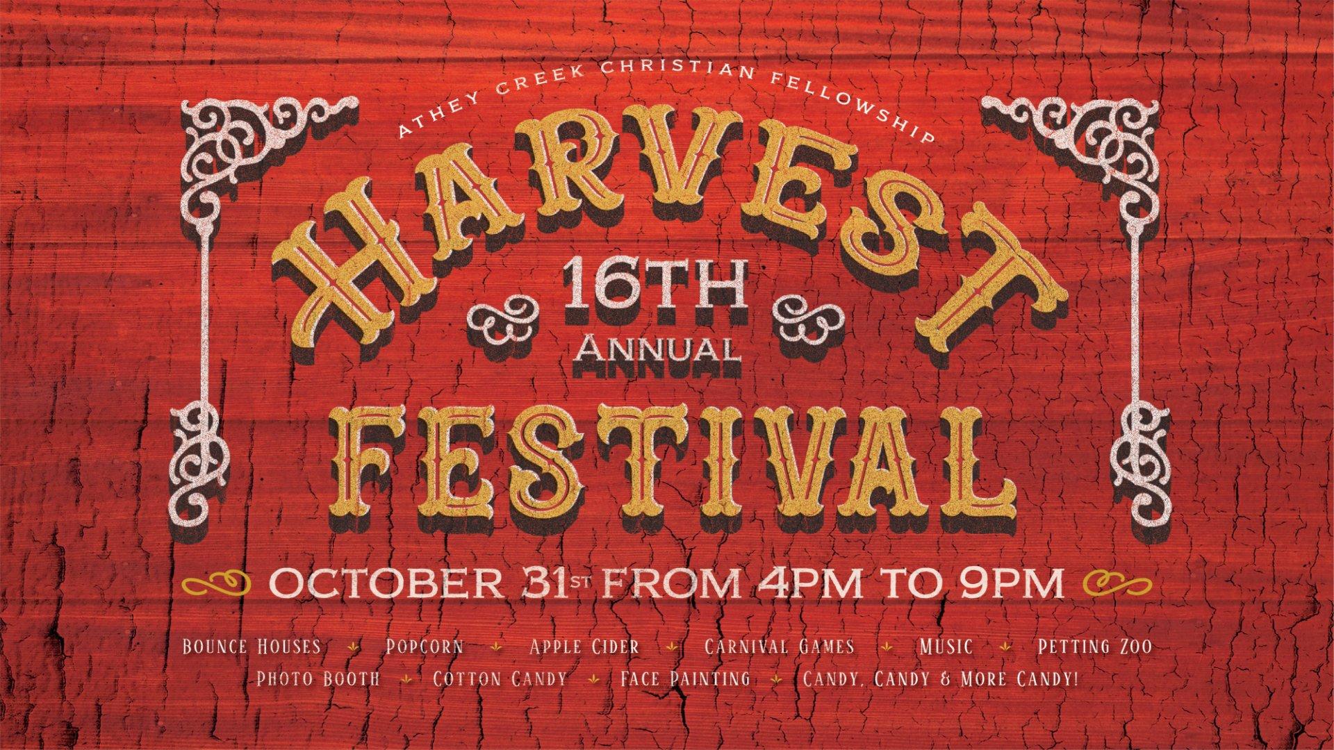 Poster for Harvest Festival