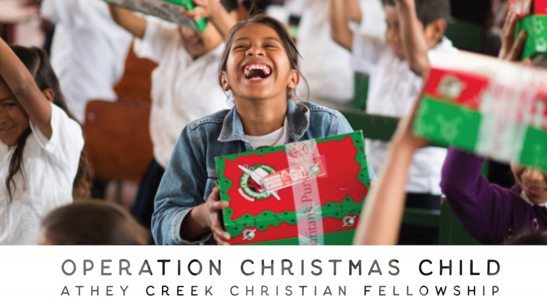 Poster for Operation Christmas Child