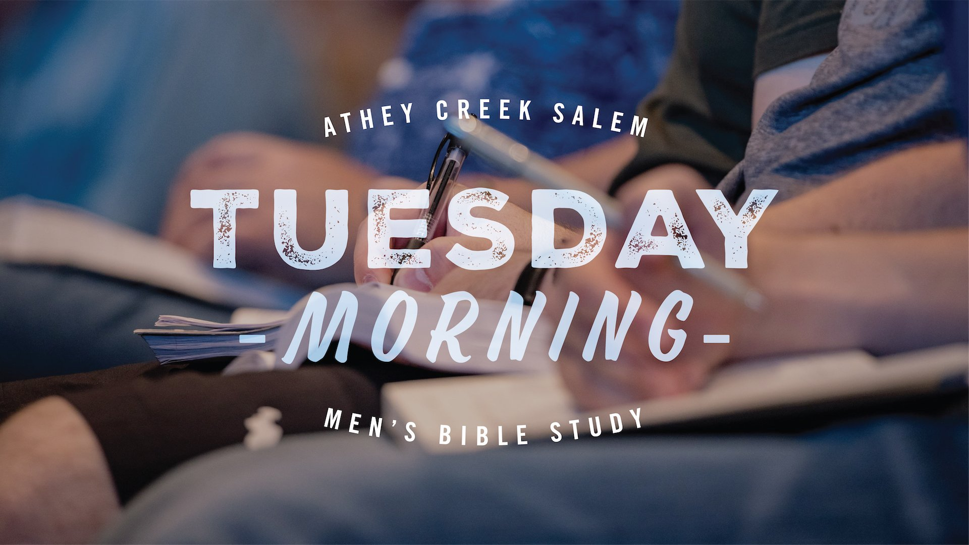 Poster for Tuesday Morning Men's Study