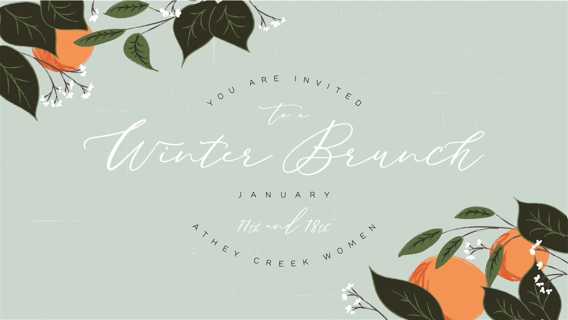 Poster for Women's Winter Brunch