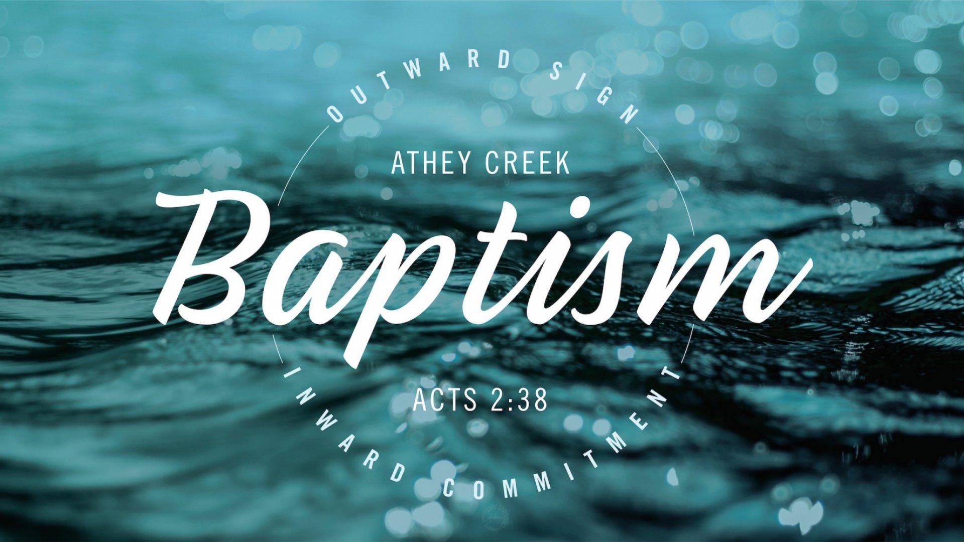 Poster for Baptism (West Linn)