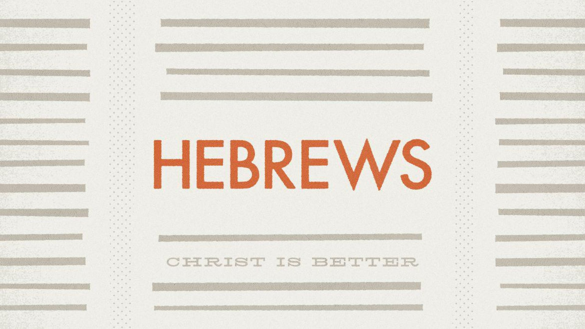 Teaching artwork for Hebrews