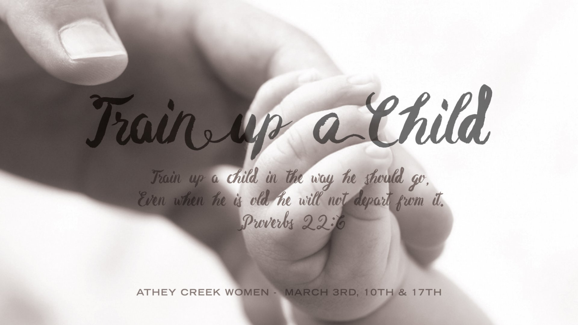 Teaching artwork for Train Up a Child