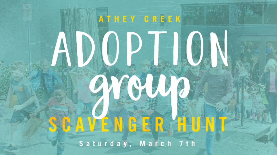 Poster forAdoption Group Scavenger Hunt