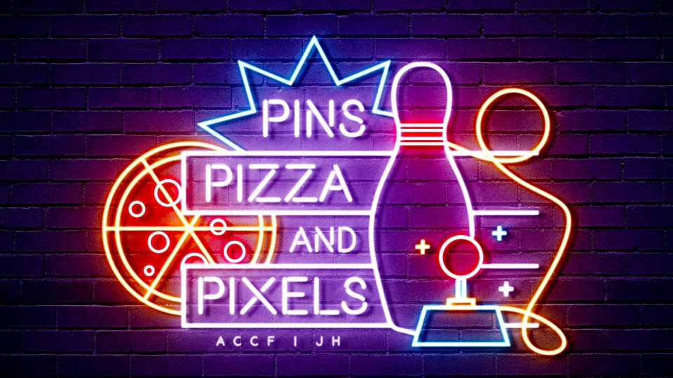 Poster forPins, Pizza and Pixels