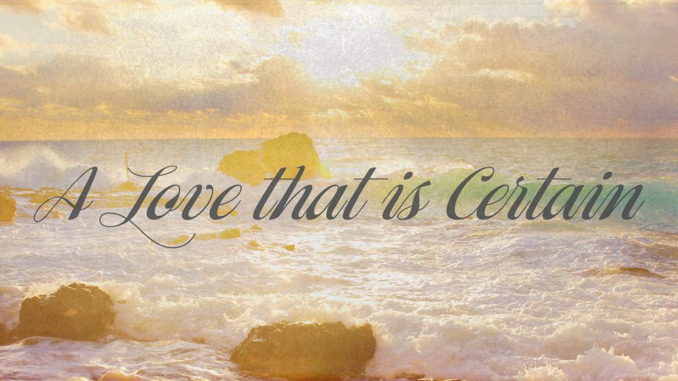 Poster for A Love That is Certain